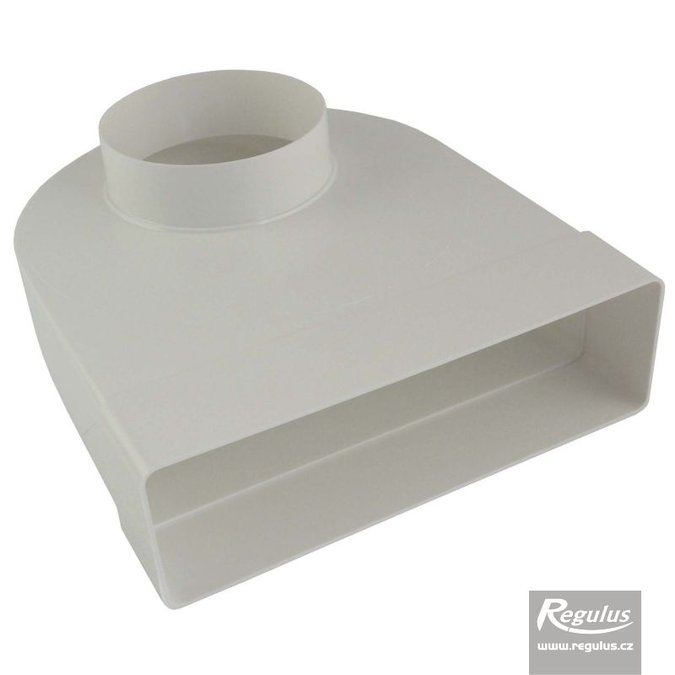 Photo: Adaptor cotit trecere rectangular- rotund